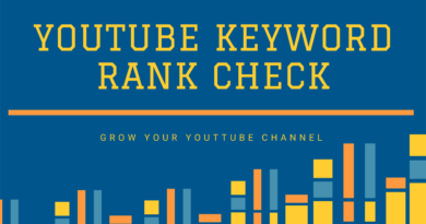 YouTube Keyword Rank Check Tool