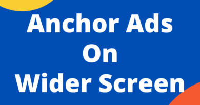anchor ads on wider screen