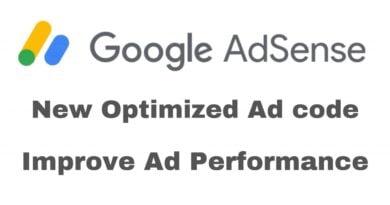 Google Adsens New Optimized ad Code